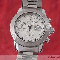 Sinn Chronograph 42mm Automatik 2000 gebraucht 303 Silber
