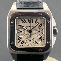 Cartier Santos 100 Stahl 46mm Schwarz Römisch Österreich, wien
