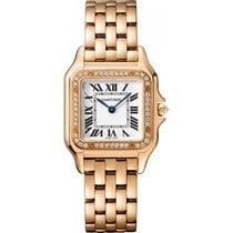 Cartier new Quartz 27mm Rose gold Sapphire Glass