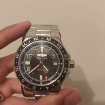 Breitling Superocean GMT Steel 41mm Black Arabic numerals