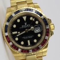 Rolex GMT-Master II Oro amarillo 40mm Negro
