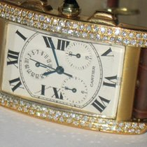 Cartier Tank Américaine Yellow gold 26mm Silver Roman numerals United States of America, New York, NEW YORK CITY