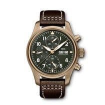 IWC Pilot Spitfire Chronograph Bronze 41mm Green United States of America, Iowa, Des Moines