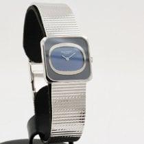 Patek Philippe Vintage White gold 25mm Blue No numerals