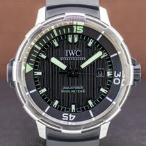 IWC Aquatimer Automatic 2000 pre-owned 46mm Black Date Alarm Rubber