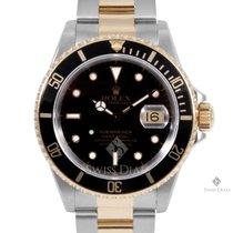 Rolex Submariner Steel and Gold Black Index Dial Black 60min...