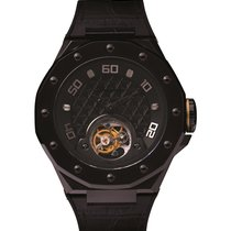 Phantoms new Manual winding Display back Limited Edition Luminous indices PVD/DLC coating 48mm Steel Sapphire crystal