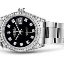 Rolex Datejust 36mm Stainless Oyster Bracelet Steel Black...