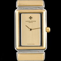 Vacheron Constantin new Quartz 19mm Gold/Steel Sapphire crystal