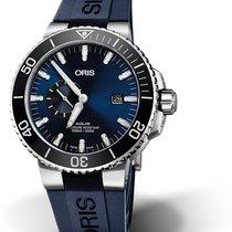 Oris Aquis Small Second 01 743 7733 4135-07 4 24 65EB Oris DATE SMALL SECOND Blu new