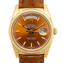 勞力士 (Rolex) Day-date 18 K Yellow Gold Brown Automatic 118138BR