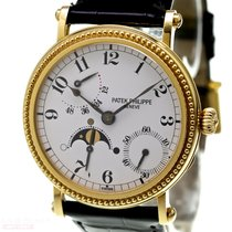 Patek Philippe Officers Watch Moon-Phase Power Reserve...