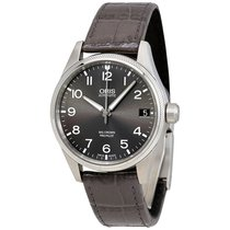 オリス Big Corwn Pro Pilot Grey Leather Strap Mens Watch 75176974...
