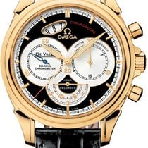 Omega DeVille Co-Axial Chronoscope Automatic 18kt Yellow Gold...