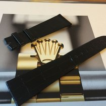 Rolex 100% original Glossy Black Alligator Strap 22x16mm