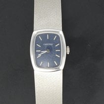 Certina Or blanc 22mm Remontage manuel Montre Femme Vintage Or blanc Certina occasion France, Poitiers