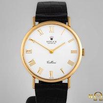 Rolex Cellini Жёлтое золото 32mm Белый Римские