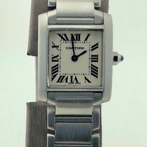 Cartier Tank Française Steel with box and papers hot price