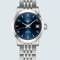 Longines Record Steel 26mm Blue No numerals