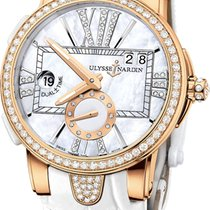 Ulysse Nardin Executive Dual Time Lady pre-owned 40mm Mother of pearl Date Crocodile skin