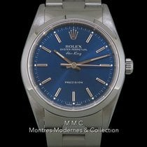 Rolex Air King Precision Acero 34mm Azul Sin cifras