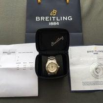 Breitling Colt GMT+ Stahl 41mm Silber Arabisch