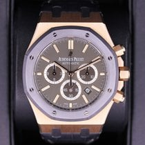 Audemars Piguet Royal Oak Chronograph pre-owned 41mm Black Chronograph Date Crocodile skin