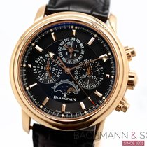 Blancpain Léman Moonphase Rose gold 40mm Black No numerals