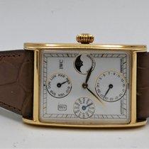 IWC Novecento Aur galben 27mm Alb Fara cifre
