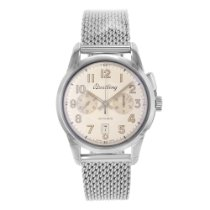 Breitling Transocean Chronograph 1915 Steel 43mm Silver Arabic numerals United States of America, New York, NYC