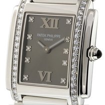 Patek Philippe Twenty~4 Stainless Steel Diamond Bezel Grey...