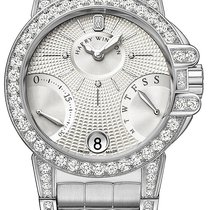 Harry Winston new Automatic Guilloche Dial 36mm White gold