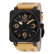 Bell & Ross Men's BR0192-HERITAGE Aviation Auto Watch