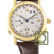 Ulysse Nardin GMT Perpetual Calendar Yellow Gold 38.5mm Silver...