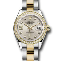 Rolex Datejust Yellow Gold & Stainless Steel & Diamonds Ladies...