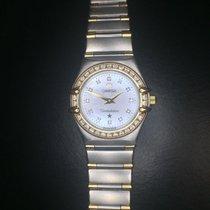 Omega 18k Gold Stainless Steel Omega Constellation Ladies Diamond