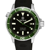 Deep Blue Master 1000 Automatic Diver Watch Black Strap Green...
