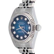 Rolex Сталь Автоподзавод Синий Без цифр 25mm подержанные Lady-Datejust