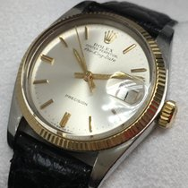 Rolex Air King Date Gold/Steel 34mm Silver No numerals