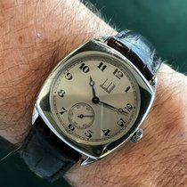 Alfred Dunhill Staal 36.4mm Handopwind 115 SVMM