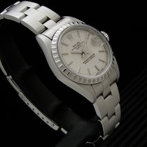 Rolex Acero Automático Plata Sin cifras 26mm usados Oyster Perpetual Lady Date