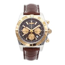 Breitling Chronomat 44 pre-owned 44mm Brown Chronograph Date Tachymeter Crocodile skin