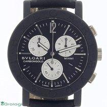 Bulgari Bulgari pre-owned 38mm Black Chronograph Leather