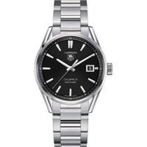 TAG Heuer Carrera Calibre 5 WAR211A.BA0782 -TAGHEUER polished steel case and bezel new