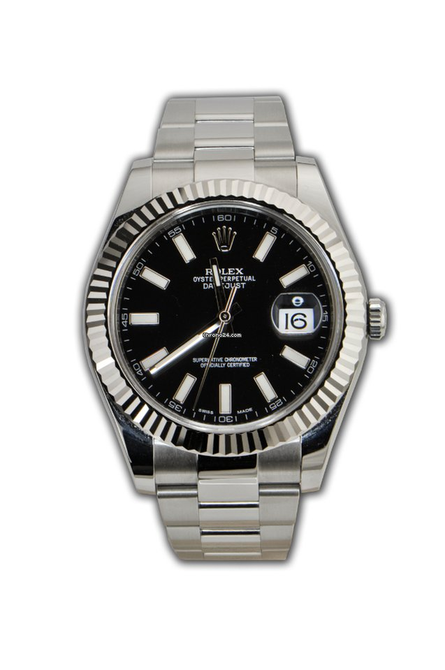 73fbec2cc4b Rolex Datejust II 41mm Black Dial Steel White Gold Bezel 116334 for $8,399  for sale from a Trusted Seller on Chrono24