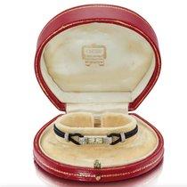 Cartier Art Deco Cartier Platinum Enamel Diamond watch, Fully signed 1920 gebraucht