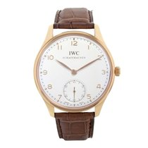 IWC Portuguese IW545409 Pink Gold Manual Winding Watch (16289)