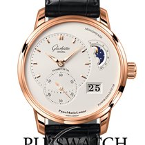 Glashütte Original Red gold Automatic Silver 40mm new PanoMaticLunar