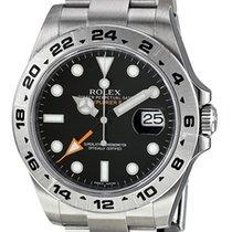 ロレックス (Rolex) Explorer II Black dial Stainless Steel GMT 16570...