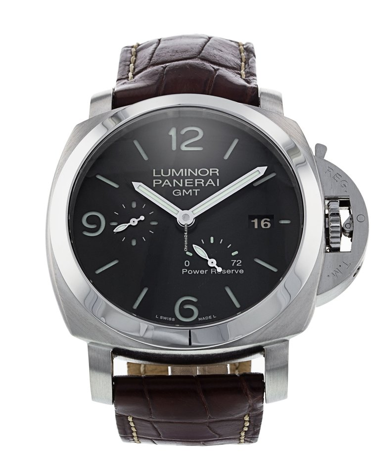 ba4fd6ac65dc Pre-owned Panerai Luminor 1950 3 Days GMT Power Reserve Automatic ...